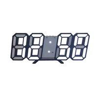 3D Grande Horloge murale numérique LED Date Time Celsius Nightlight Afficher la table Desktop Horloges de bureau pour salle de séjour à la maison