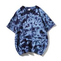 Erkek Batik Oversize Tişörtler Yaz Streetwear Hip Hop Tişörtler Casual Pamuk Harajuku Kısa Kollu Erkek Üstleri