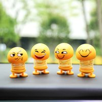 Novelty Creative Car Carrying Ornaments Smiley Spring Doll S...