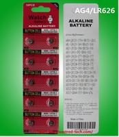 100٪ الطازجة الزئبق 400cards مجانا / الكثير AG4 LR626 SR626 377 377A ووتش زر خلية بطارية 10PCS ووتش عملة البطارية في بطاقة
