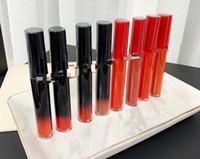 Marca Giorgio Mate Lixi Lipstick Ecstasy Lacquer Lipgloss 21 Colores Rojo Tubo Negro Lip Color Rounge Laques 6ml Lápices labiales