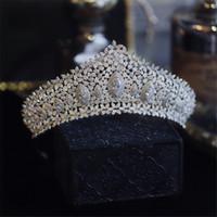 Nouvelle arrivée 3A Zircon Couronnes Tiaras Headpieces pour accessoires de coiffe de fête de mariage et d'anniversaire pour la mariée bijoux de mariée