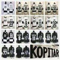 2019 2020 لوس انجليس الملوك 90S عصر التراث الأبيض 8 درو دوتي 11 أنزه كوبيتار 32 جوناثان كويك 77 جيف كارتر 99 اين Gretzky الفانيلة