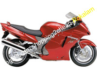 Para HONDA CBR1100XX Blackbird CBR1100 XX 96 97 98 99 00 01 02 03 04 05 06 07 Kit de carenado rojo (moldeo por inyección)
