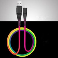 Type C Micro USB-kabel 1m 3ft Duurzaam 2A Snelle opladen Rainbow Alloy USB-kabels voor Samsung S8 S9 S10 Opmerking 8 9 HTC LG Android-telefoon