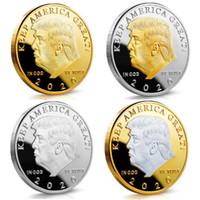 2020 Trump Coin Craft Souvenir Gedenkmünzen Amerikaner 45. Präsident Donald Gold Silber Metall Abzeichen Sammlung