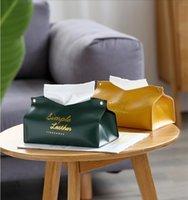 PU Tissue коробки Творческий семьи гостиной свет роскошный ящик Nordic ины прекрасный коробка ткани вагон-ресторан чистый красный кожаный