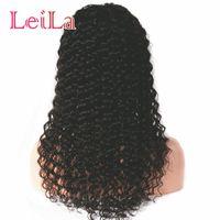 Perruques à cheveux Humains de la dentelle pour femmes noires Remy Brésilien Deep Dentelle Perruque avant pincée de cheveux bébé