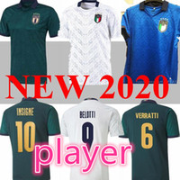 Jogador 2020 2021 Barella Sensi Insigne Insigne Away Jerseys de futebol 20 21 Renascimento Chiellini Belotti Itália Camisa de futebol