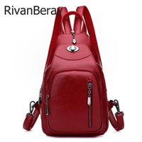 High Quality Soft Leather 3- in- 1 Female Backpacks Anti- theft...
