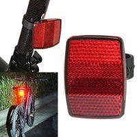 2pcs Bicicleta reflector de la bici habló de seguridad Advertencia tubo clip de luz de seguridad Llanta de montaje de la vendimia luz reflectante del reflector Nueva
