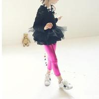 2018 ربيع جديد ملابس الأطفال الملابس الداخلية الصلبة الطفل بنات بو سروال جلدية اللباس فتاة الخريف يغطي الرجل الاطفال سليم بنطلون