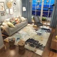 Abstract Style Polyester Large Soft Carpets For Living Room ...