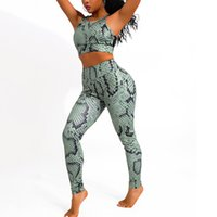 Women' s Sexy Serpentine Yoga Sports Suit Fitness Leggin...