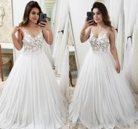 2019 Summer Bohemian Wedding Dresses A Line Illusion Bodice ...