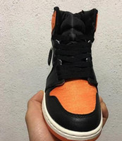 4f43fa17520b New Arrival. New 1 OG High satin Shattered Backboard men basketball shoes  trainers sports orange black ...