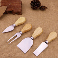 Wood handle cheese knife slicer kit kitchen cook tools cake ...