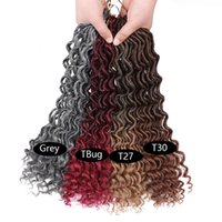 Hot selling fashion black ombre color Crochet braid hair ext...