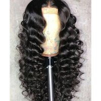 Lace Front wigs Deep Wave Full Lace Human Hair Wigs Pre Pluc...