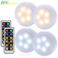 Haoxin Dimmable sensor de toque led sob armários luzes aquecem branco + branco dupla cores pucks fechar roupa de guarda-roupa noite luz