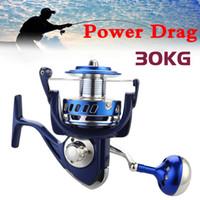 30kg de energia arrastar todos os bobinas de fiação de metal 6000 7000 8000 9000 10000 barco de pesca de pesca de pesca pesca carretel