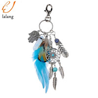 Dreamcatcher Keyring Bag Charm Fashion Silver Boho Jewelry F...