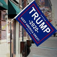 Decor Banner Trump Flag 10pcs Hanging 90 * 150cm Trump Keep America Grandi striscioni 3x5ft Digital Print Donald Trump 2020 Flag BH1749 TQQ
