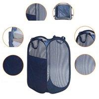 Gran plaza almacenaje de la ropa de lavandería cesta Inicio plegable Cubo de almacenamiento sólido misceláneas juega al organizador plegable cesta de lavadero DH1225 T03
