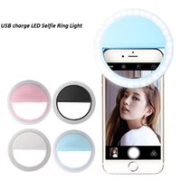 Beauty Selfie Lighting Ring Holder Clip Luz de relleno Montaje del teléfono Flash Light Up Selfie Lámpara recargable con cajas de embalaje