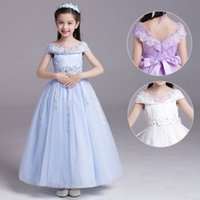 Wholesale new children' s wedding dress girl princess dr...