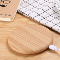 BuyCoins Bamboo Wood Charger wireless Charger Charging Dock Pad Pad per iPhone per Samsung Smartphone universale