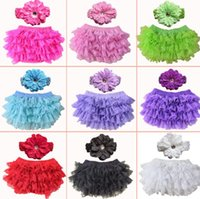 Baby Girl Bloomers with headband Girls Lace PP Shorts Briefs...
