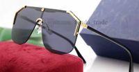 Новые дизайнерские солнцезащитные очки для мужчин женщин мода маска унисекс солнцезащитные очки половина кадра покрытие зеркальные линзы металлические ножки летний стиль 5 шт. 7 цветов