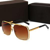 Louis Vuitton LV0536 Yeni Marka Kulübü Güneş Gözlüğü Yuvarlak ahşap bacak tam çerçeve Erkekler Güneş Gözlükleri Kadınlar Açık Retro Çift Köprü Sunglass
