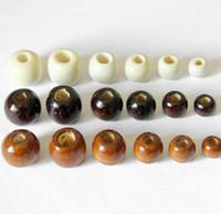 Runde großes Loch Holzperlen für Armband Halskette Schmuck Machen Weißer Kaffee 10mm 14mm 16mm 18mm Holz Perlen DIY Schmuck Zubehör Charme