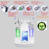 7 في 1 Bio RF Hammer Hydro Microdermabrasion المياه Hydra Dermabrasion Spa الوجه آلة التنظيف المسام