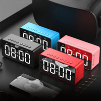 Bluetooths اللاسلكية المتكلم مضخم صوت مرآة أدى أجهزة الإنذار الساعات المحمولة مكبر الصوت السرير باس مربع مكبر الصوت دعم aux fm tf بطاقة