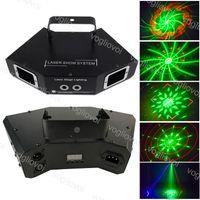 Laser lighting 60W 4 Lens DMX512 RGB 3D Animation Line Scanning Voice Activated For Indoor Stage Disco DJ Equipment DHL