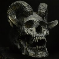 Vintage Gothic 316L Stainless Steel Devil Satan Sheep Head R...