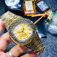Luxury mens designer watches Carving pattern Top brand 42mm ...
