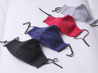 máscara de tela de algodón sin la manera del color del solide pura válvula mascarilla lavable 4 colores ofrecen elegir el envío rápido lavable vw mascarilla