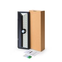 118leds 야외 무선 안전 솔라 투광 조명 가로등, 방수 IP65 ABS 자동 감지 잔디, 정원 벽 램프 절약 전원 충전 DHL