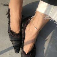 Art und Weise 14k Gold gefüllt Anklet Barocke Perle Fußkettchen Zu Fuß Fußkettchen für Frauen Leg Kette Schmuck Geschenk Summer Styles