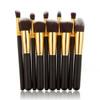 10 stücke Kosmetik Make-Up Pinsel Set Für Foundation Powder Lidschatten Eyeliner Lip Textmarker Kosmetik Pinsel Werkzeuge RRA1932