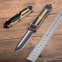 dom faca Xmas Scarab 3 modelos ouro borda dupla ação dupla pesca autodefesa automática Camping Caça Pocket Knife para homens C36 C81