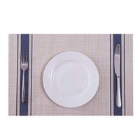 Manteles individuales para mesa de comedor Estera de malla Tejido rectangular Resistente al calor Mantel individual aislante Limpiable Lavable Mesa de PVC Platerías Almohadillas