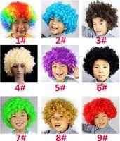 Unisexe Cosplay perruque clown perruque Halloween Perruque de Noël perruque Curly Perruques d'explosion Wig Rainbow Joker perruque DC178