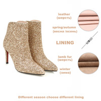 WETKISS 2019 Bling Sequined Female Footwear Big Size Woman H...