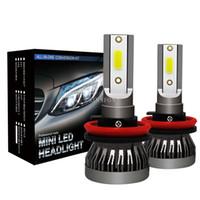 50Pcs / Lot 25Pair H7 LED 8000LM Mini Car Headlight Bulbs LED H1 H7 H8 H9 H11 fari Kit 9005 HB3 9006 LED HB4 Auto lampade auto