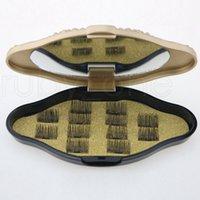 Магнитные ресницы 3D накладные ресницы невидимый магнит 3D норковые ресницы с пинцетом толстая полная полоса поддельные ресницы инструменты RRA1407